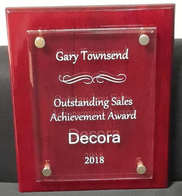 Decora Outstanding Achievement 2018 Award
