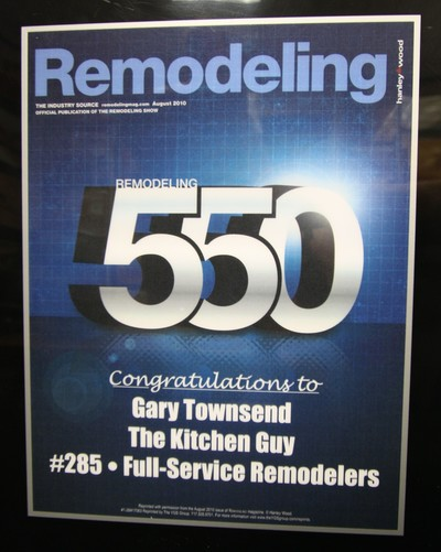 Top 550 Remodeler chosen by Remodeling Magazine